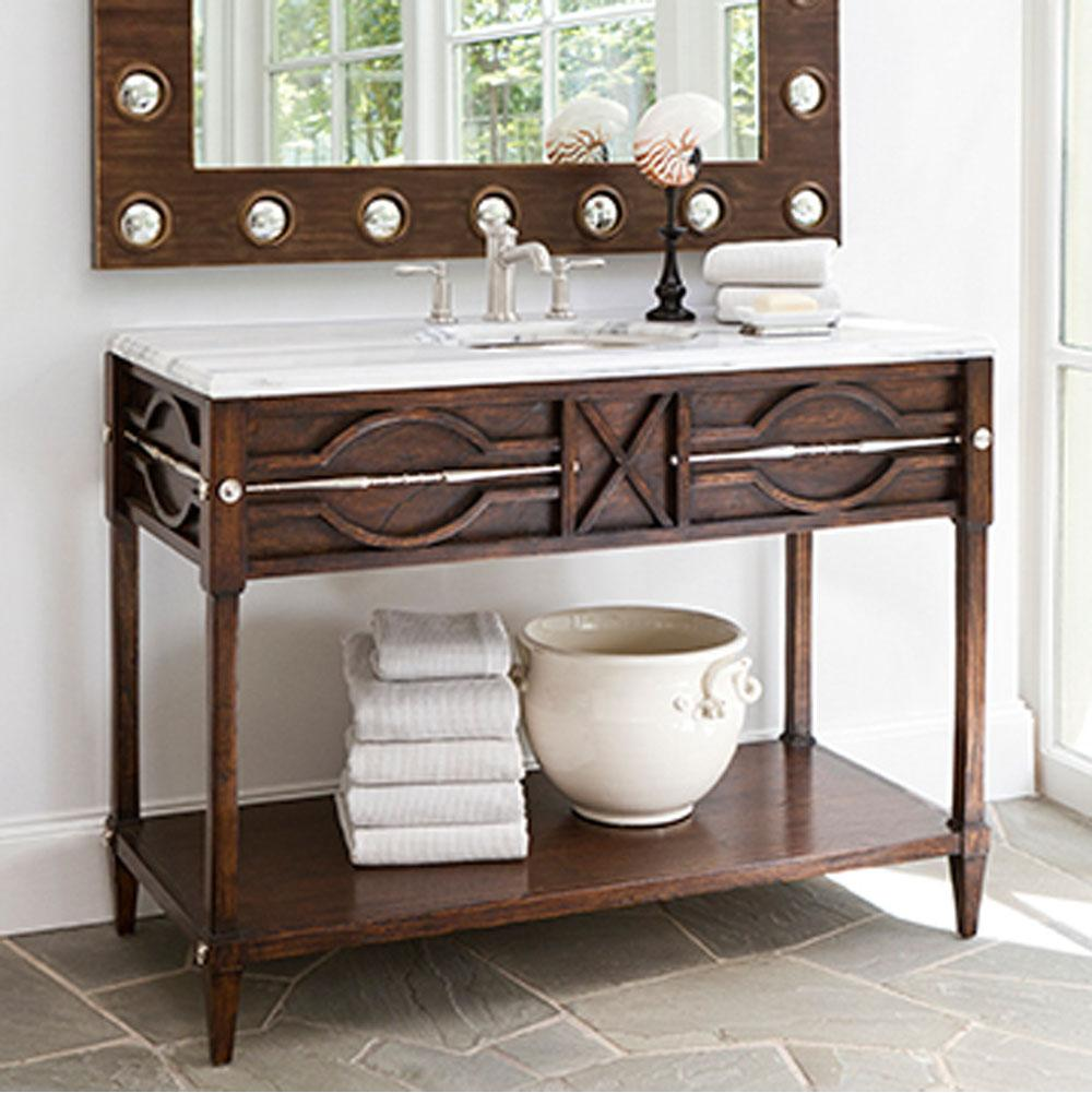 Good 17554 110 401 · Ambella Home Collection; Spindle Sink Chest   Walnut ...