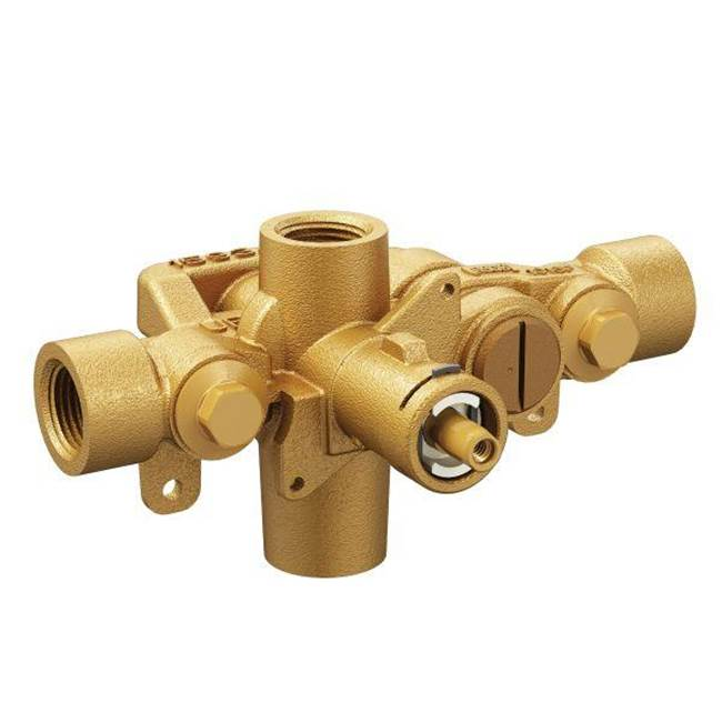 or Unfinished Moen 2326PF M-Pact Posi-Temp Pressure Balancing Valve with 1//2 Crimp Ring PEX Connection