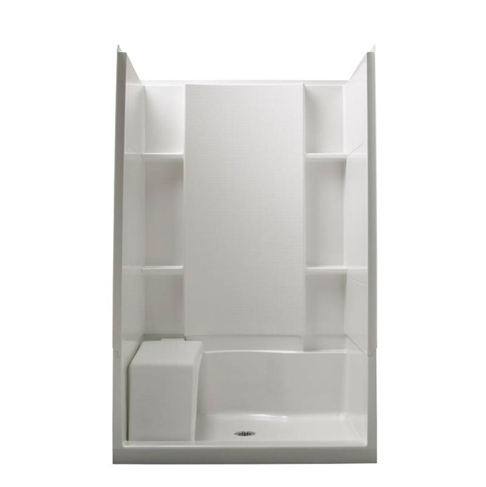 Sterling Plumbing Bathroom Shower Accessories Shower Seats White ...